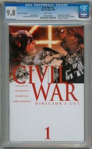 Civil War #1 Director's Cut CGC 9.8 Mark Millar Marvel comic book